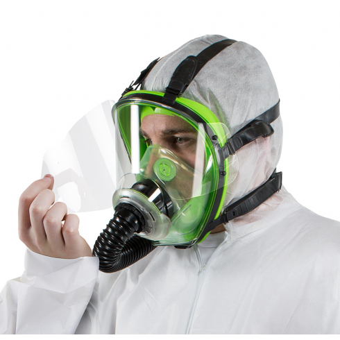 Canfield joseph rpb t150 series full face mask for Spray paint safety